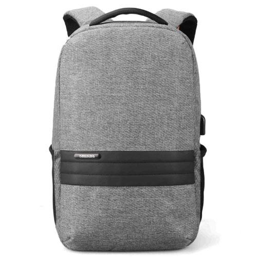 Городской рюкзак антивор с usb зарядкой серый