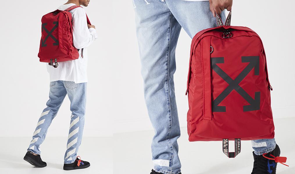 Красный-рюкзак-Off-white-